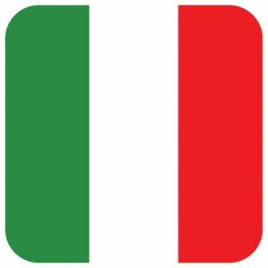 Onderzetters voor glazen met italiaanse kleuren 15 st