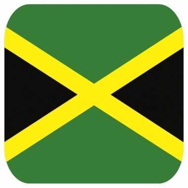Onderzetters voor glazen met jamaicaanse kleuren 15 st