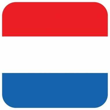 Onderzetters voor glazen met nederlandse kleuren 15 st