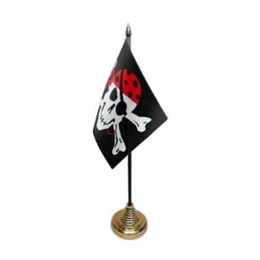 One eyed jack tafelvlagop voetje piraat