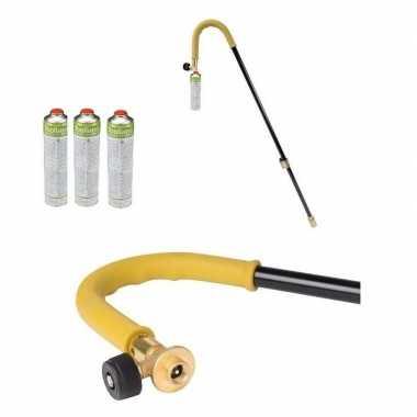 Onkruidverdelger / brander inclusief 3 gasbus 87 cm