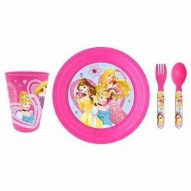 Ontbijtset disney prinses 3d bord voor kinderen