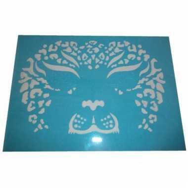 Oog make up sjabloon tijger