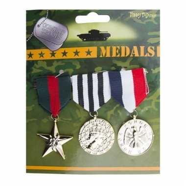 Oorlogshelden medailles 3 stuks