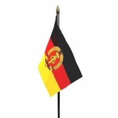Oost duitsland vlaggetje polyester