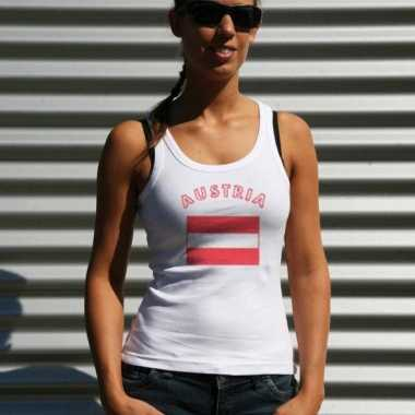 Oostenrijkse vlag tanktop / t-shirt voor dames