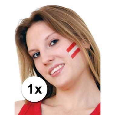 Oostenrijkse vlag tattoeage