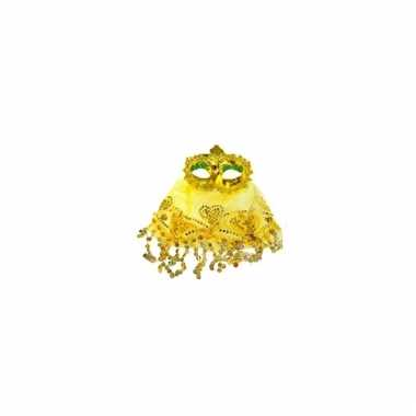 Oosters oogmasker geel