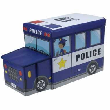 Opbergdoos politieauto 55 cm