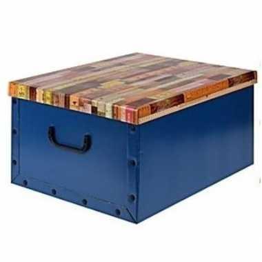 Opbergers box blauw 50 x 38 cm