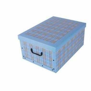 Opbergers box blauw 53 x 38 cm