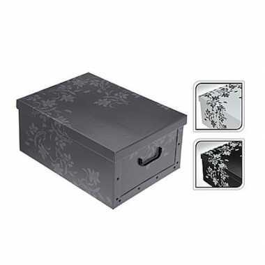 Opbergers box grijs 52 x 38 cm