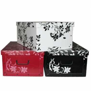 Opbergers box zwart 52 x 38 cm