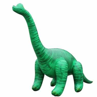Opblaas brachiosaurus dino groen 122 cm