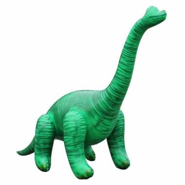 Opblaas brachiosaurus dino groen 71 cm