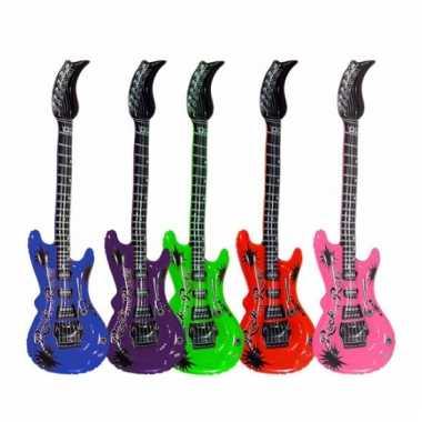 Opblaas elektrische gitaar groen