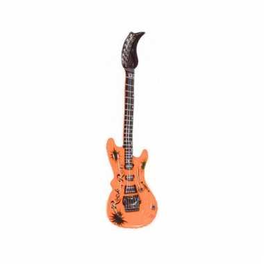 Opblaas elektrische gitaar oranje