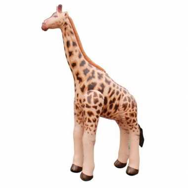Opblaas giraffe bruin 92 cm