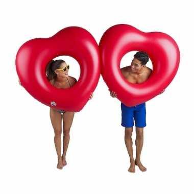 Opblaas hart rood zwemband 2 stuks