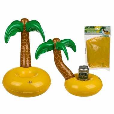 Opblaas palmboom blikjes houder 35 cm