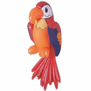 Opblaas papegaai 60 cm