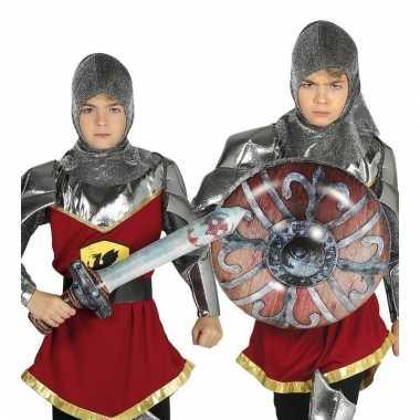 Opblaas schild met zwaard