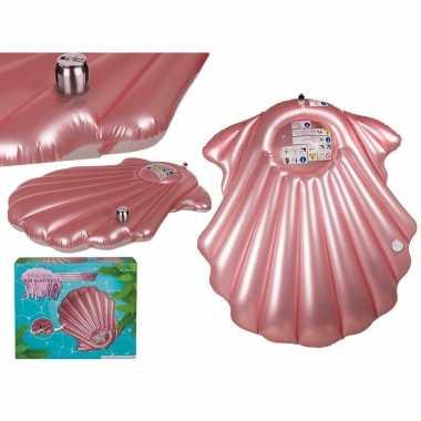 Opblaasbaar matras roze schelp 174 cm