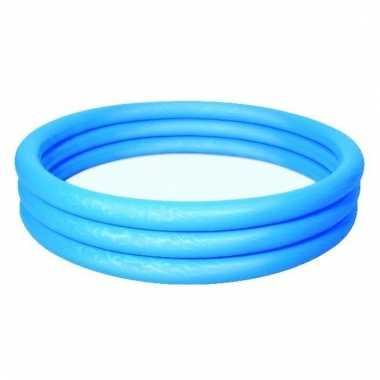 Opblaasbaar mini zwembad blauw 152cm