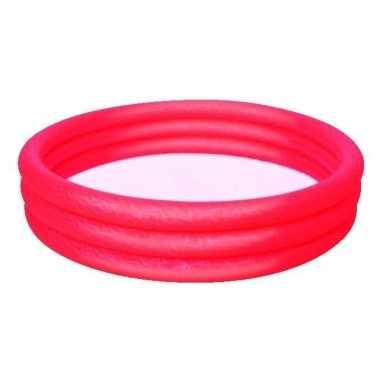 Opblaasbaar mini zwembad rood 152cm