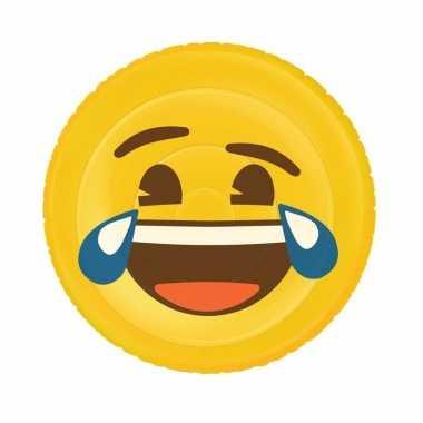 Opblaasbaas lol smiley luchtbed 130 x 110 cm