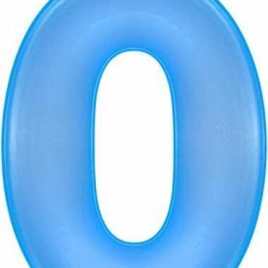 Opblaasbare cijfer 0 blauw