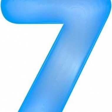 Opblaasbare cijfer 7 blauw