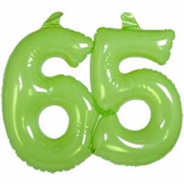Opblaasbare cijfers 65 groen