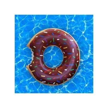 Opblaasbare donut zwemband