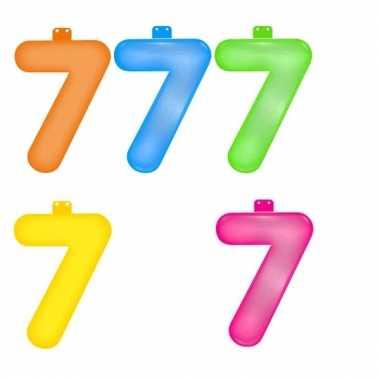 Opblaasbare gekleurde cijfers 7