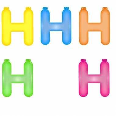 Opblaasbare gekleurde letter h