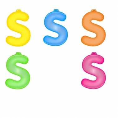 Opblaasbare gekleurde letter s