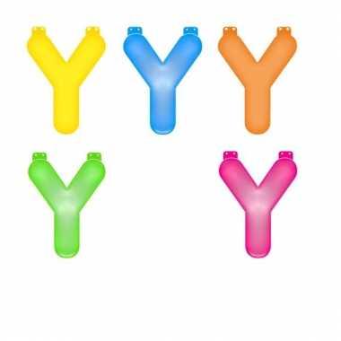 Opblaasbare gekleurde letter y