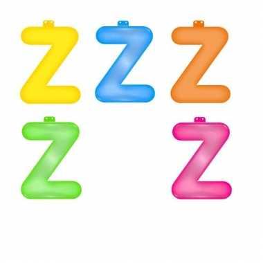 Opblaasbare gekleurde letter z