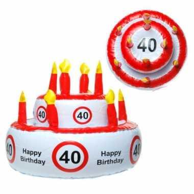 Opblaasbare happy birthday taart hoed