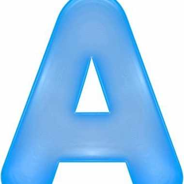 Opblaasbare letter a blauw
