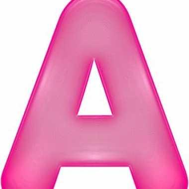 Opblaasbare letter a roze