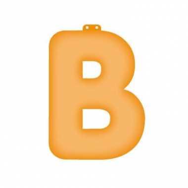 Opblaasbare letter b oranje