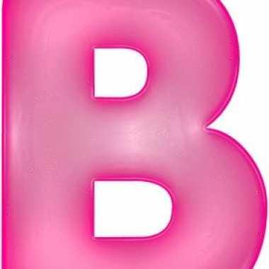 Opblaasbare letter b roze
