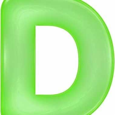 Opblaasbare letter d groen