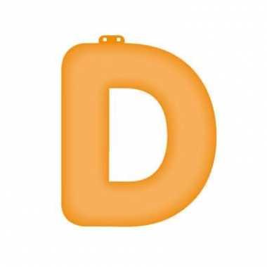 Opblaasbare letter d oranje