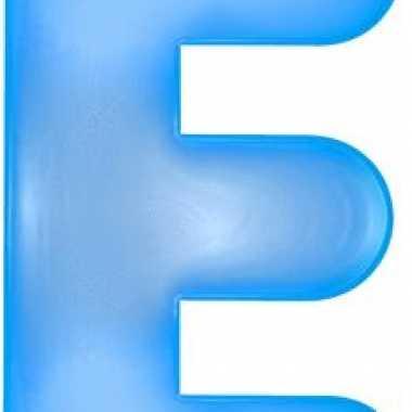 Opblaasbare letter e blauw
