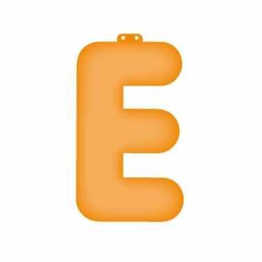 Opblaasbare letter e oranje