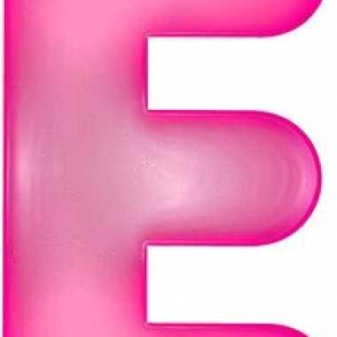 Opblaasbare letter e roze