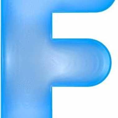 Opblaasbare letter f blauw